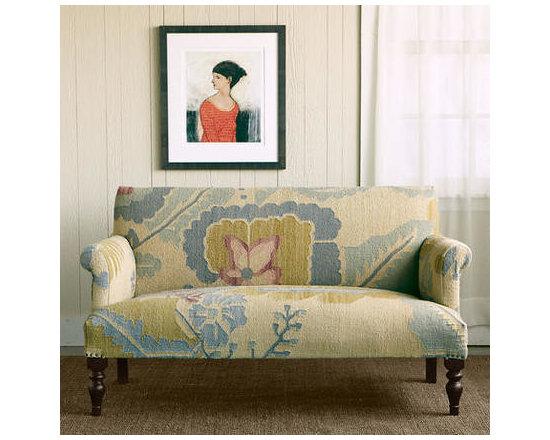 Passion Flower Kilim Love Seat -