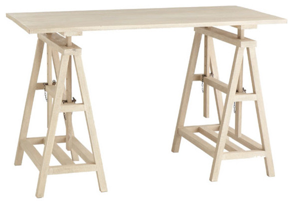Sawhorse workstation modern desks and hutches by Sawhorse desk legs