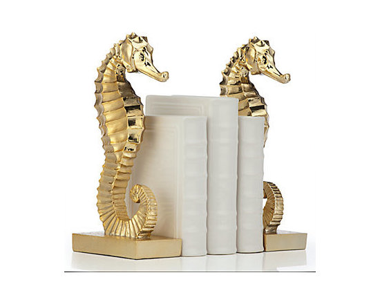 Seahorse Bookends, Set of 2 -