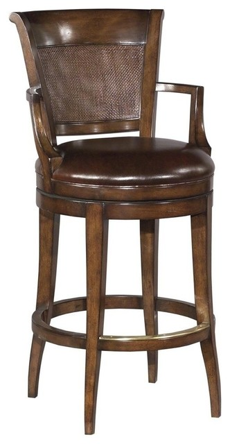 new swivel counter stool cane panel back traditional
