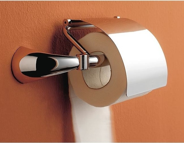 Chrome Toilet Paper Holder With Cover Contemporary