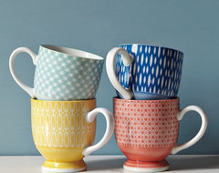 Modernist Mugs eclectic glassware