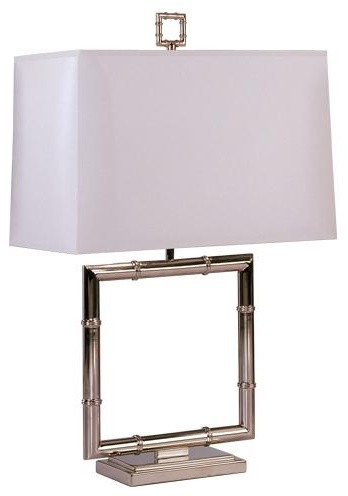 Robert Abbey Jonathan Adler Meurice Square Table Lamp in Polished Nickel-Alterna traditional-table-lamps