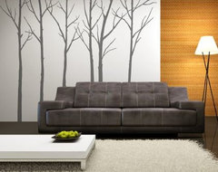 Winter Trees Black Wall Stickers contemporary-decals