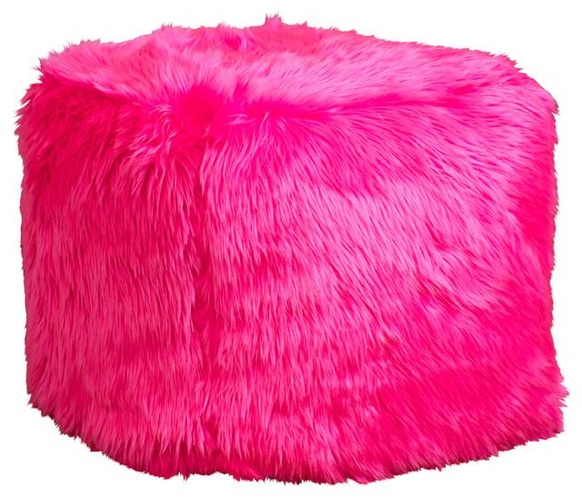 Trevor Microfiber Kids Bean Bag, Hot Pink - Modern - Kids Chairs - by Great Deal Furniture
