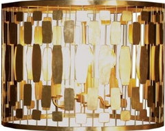 Leona Gold Silver Leaf Chandelier by Worlds Away contemporary chandeliers