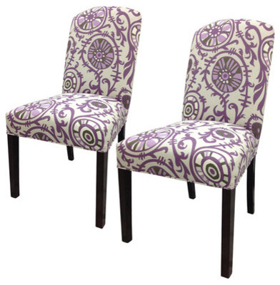Sole Designs Passion Cotton Parsons Chairs, Set of 2 contemporary-dining-chairs