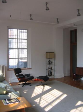 Abelow Sherman Architects LLC midcentury-living-room