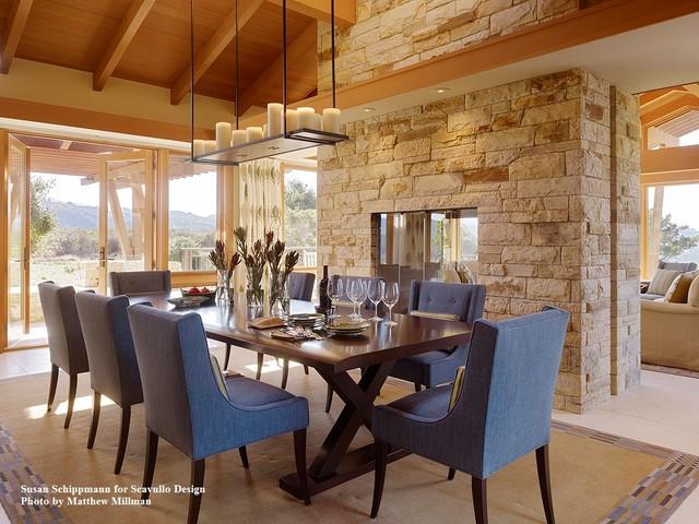 West Coast Farmhouse Transitional Dining Room San Francisco By Schippmann Design