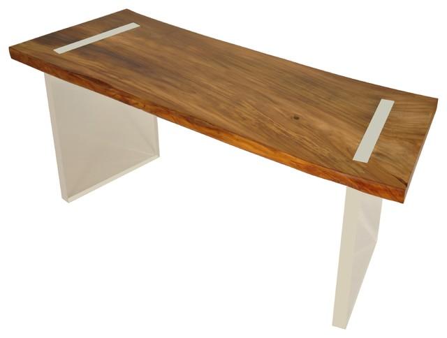 reclaimed wood floating desk solid teak contemporary. Black Bedroom Furniture Sets. Home Design Ideas