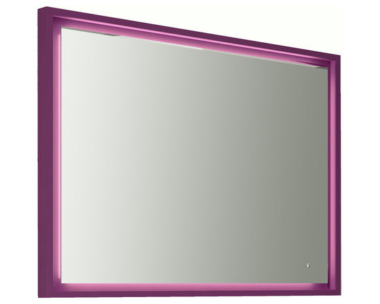 "Napoli 39""1/4 LED mirror with tactil switch. Aubergine. -"