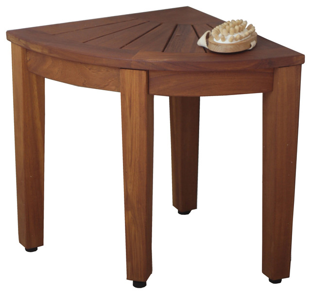 15 5 Quot Teak Shower Bench From The Corner Collection