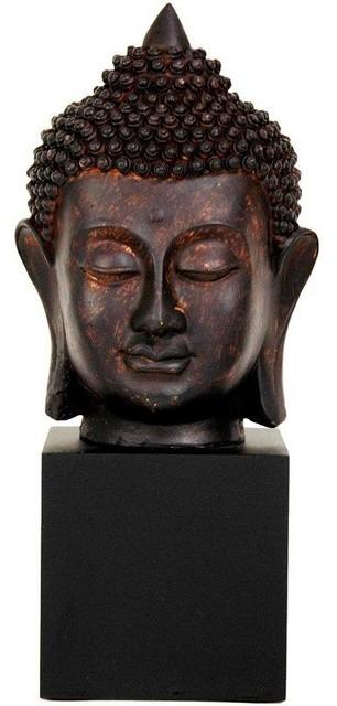 """10"""" Thai Buddha Head Statue asian-home-decor"""