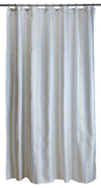 extra long ready made shower curtain sparkle stripe
