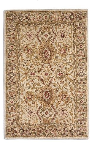 Green Anatolia Fields Wool Area Rug traditional-rugs