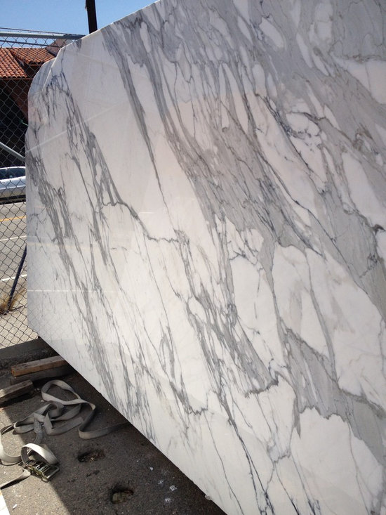 Italian calacatta gold marble slabs from Royal Stone & Tile in Los Angeles