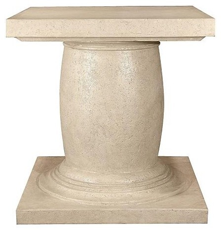 Large outdoor dining table base with umbrella hole for Traditional dining table bases