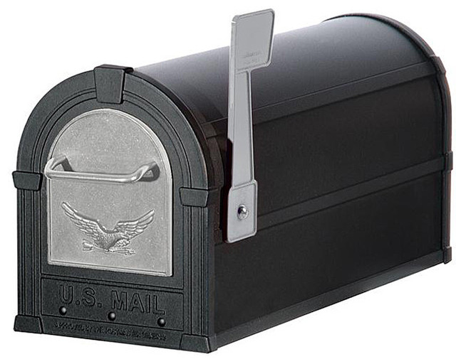 Silver/ Black Eagle Heavy Duty Rural Mailbox - Contemporary - Mailboxes - by Overstock.com