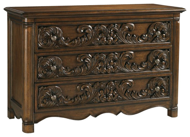 Henry Link Spencer Court Single 3 Drawer Dresser in Pullman Brown transitional-dressers-chests-and-bedroom-armoires