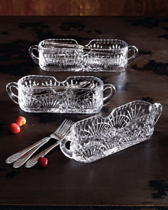 Crystal Flatware Caddies - traditional - flatware - by Horchow