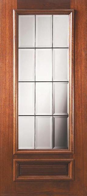 Slab patio single door 80 wood mahogany patio 1 panel 3 4 for Single patio door with window