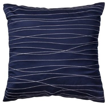 Room Essentials® Embroidered Decorative Pillow - Blue contemporary pillows