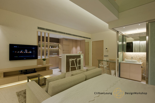 The Arch  -  A Perfect City Pad .  A Chic Hotel Décor modern-living-room