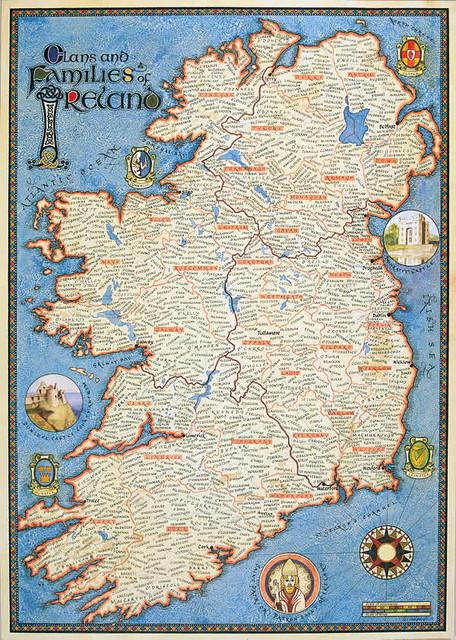 Map Of Ireland: Genealogy Maps of Ireland traditional-artwork