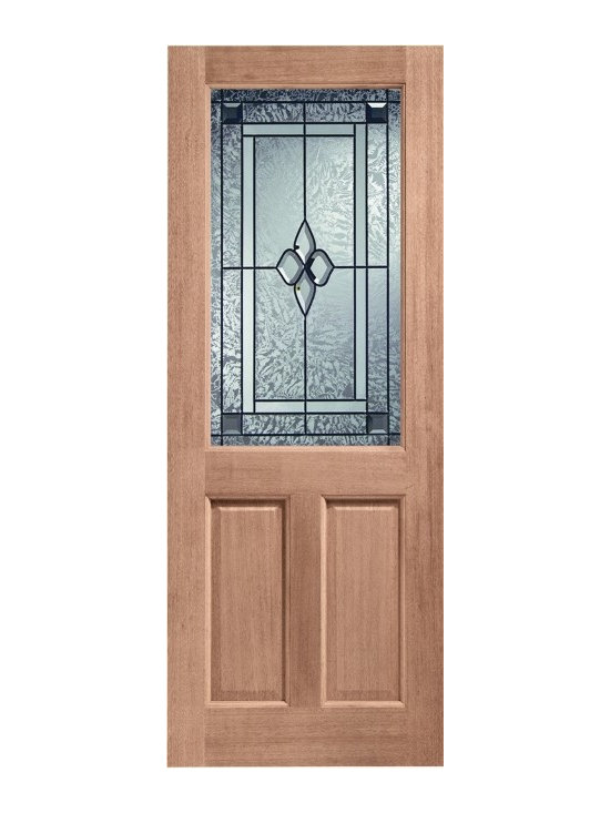 Doors by ABL Doors - This hardwood style Coleridge glazed door, from ABL Doors & Windows, is a great compliment to your home. The leaded pattern on the glass gives your home a tranquil and peaceful  exterior, letting you and your guests walk in relaxed and content.