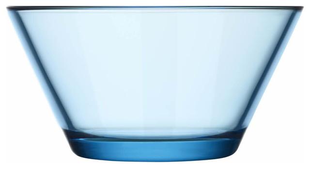 Kartio Bowl 13 Oz. Clear, Light Blue modern-bowls