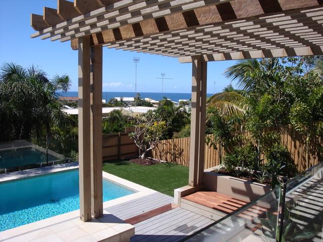 backyard makeover mediterranean-pool
