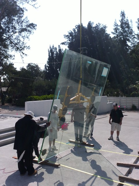 Glass Cube structure- one of kind creation! contemporary