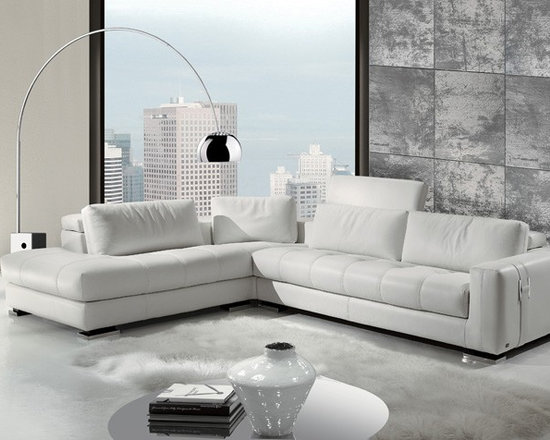Showroom Pieces - White Leather Sectional