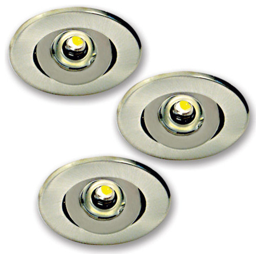 Recessed Mini Led Lighting : Elco e n nickel w mini led recessed undercabinet light