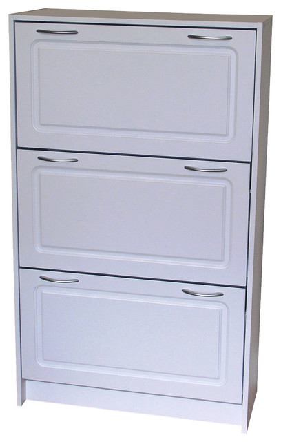 ... Shoe Cabinet in White - Traditional - Accent Chests And Cabinets - by
