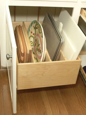 Pull Out Tray Bin kitchen-drawer-organizers