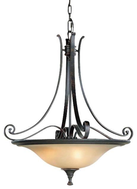 3 Bulb Liberty Bronze Chandelier contemporary-chandeliers