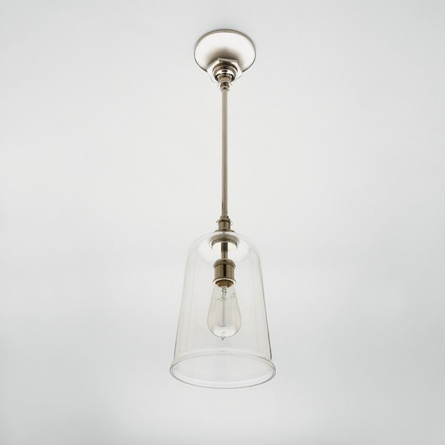 Henry Pendant with Hand Blown Glass Shade eclectic-pendant-lighting