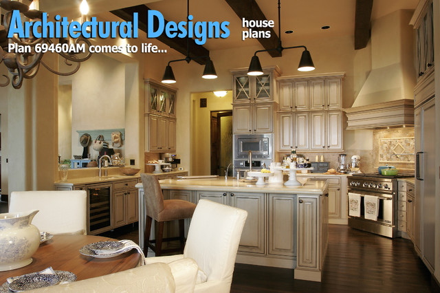 Plan 69460AM - Energy Efficient French Country Design traditional-kitchen