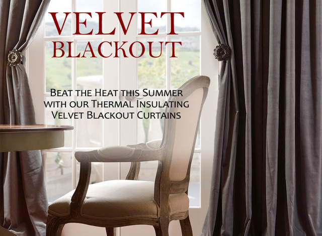 Blackout Curtains. Velvet Blackout Thermal Curtains By Half Price ...