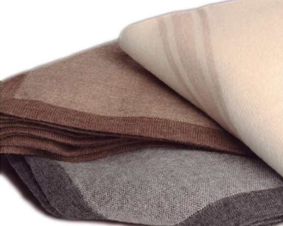 Drama Alpaca Throw Blanket, Dark Grey/Light Taupe - Supremely tailored yet oh so cozy, this fabulous sofa throw blanket is a dream come true. Made from 100% Baby Alpaca yarn and handcrafted and hand loomed, this decorative alpaca throw blanket makes a statement in any room. Use it to add texture and warmth to a contemporary couch or drape artfully at the end of a bed.