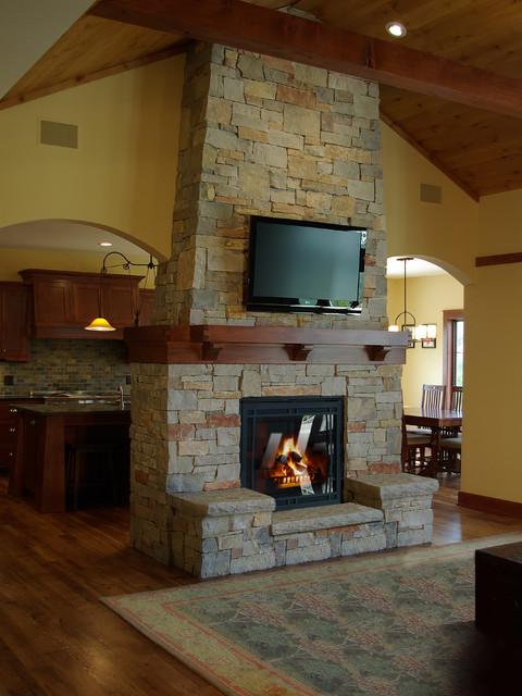 White Oak Residence traditional-living-room