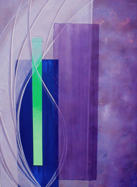 Purple Peace a 36 x 48 abstract acrylic painting on canvas by casarietti contemporary-paintings