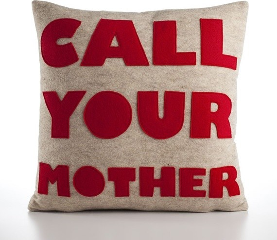 Call Your Mother Pillow eclectic pillows