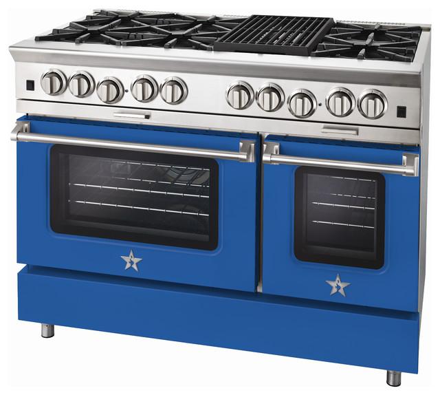 "BlueStar Platinum Series: 48"" Range modern-gas-ranges-and-electric-ranges"