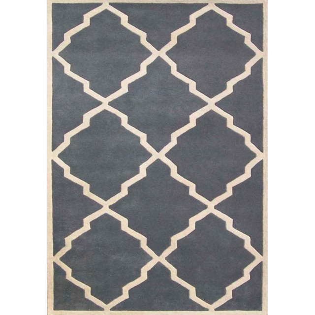 Slate Gray Moroccan Rug modern rugs