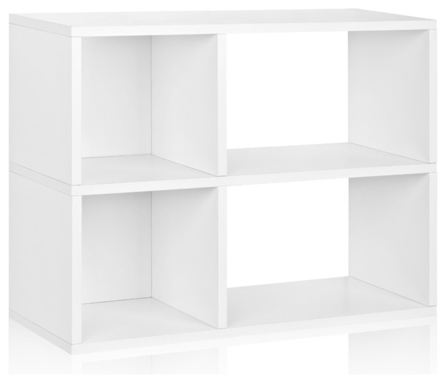 Way Basics 2 Shelf Chelsea Bookcase, White modern-accent-chests-and-cabinets