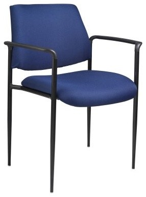 Boss Square Back Diamond Stacking Chair with Arm modern-task-chairs