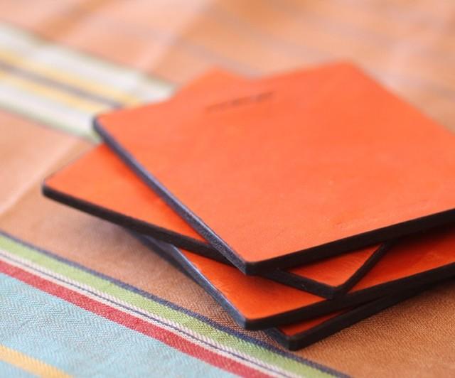 Leather Coasters Set Of 4 Modern Coasters San