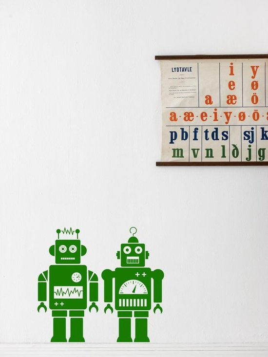Ferm Living Robots WallSticker - With Ferm Living WallStickers it is easy to create a new look and change the style in a room in a matter of minutes. By using WallStickers, your kids can also help decorate their own room in an array of colors.